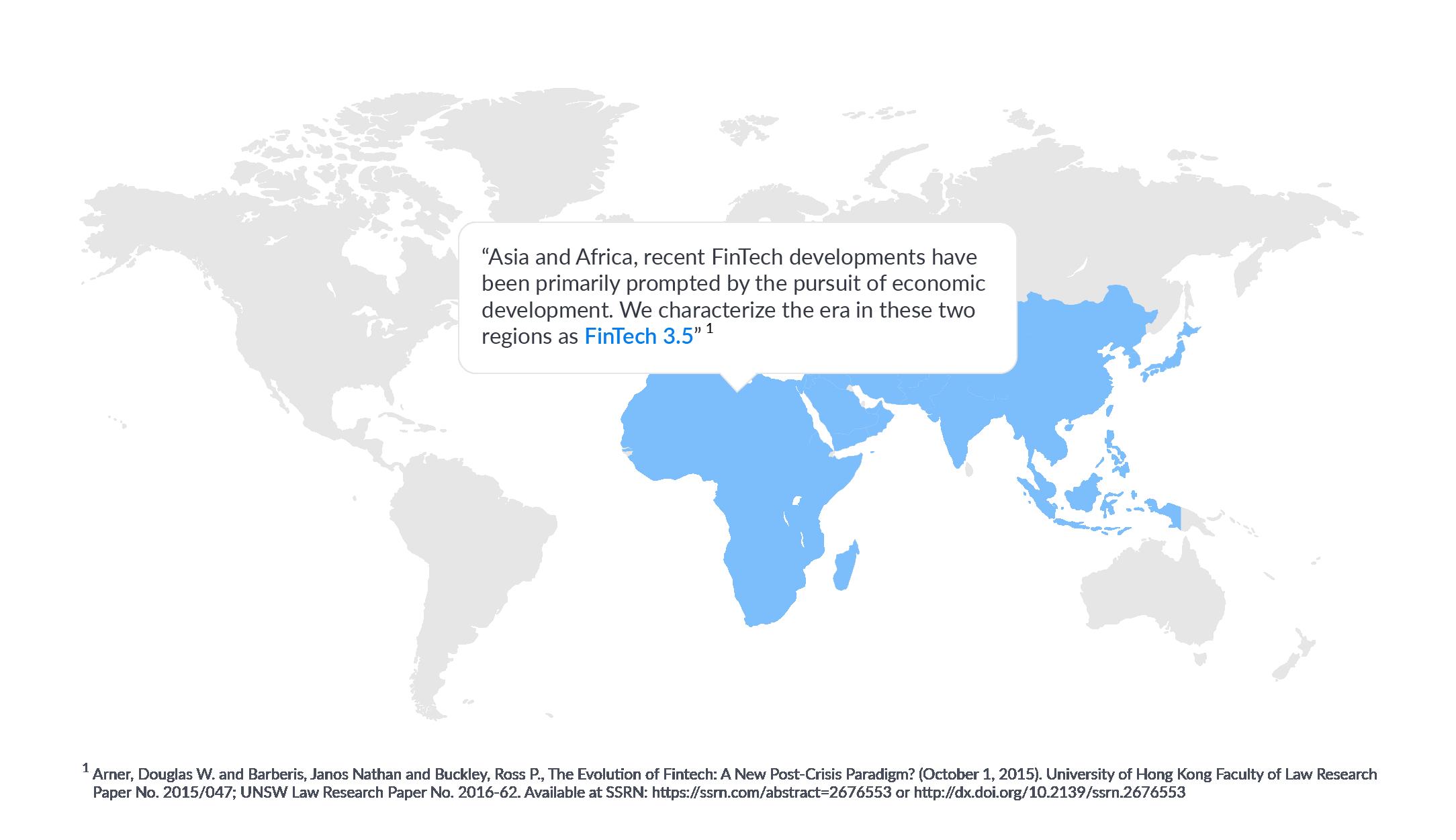 fintech map economic development africa asia