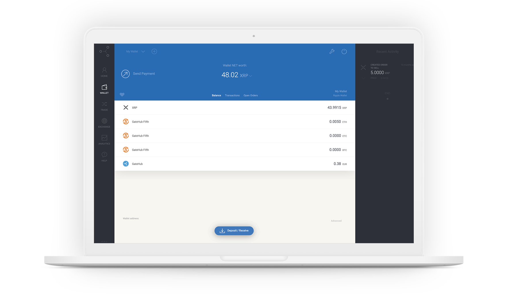 GateHub wallet